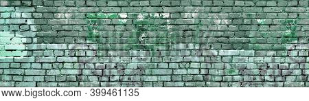 Distressed Painted Brick Wall Background Isolated. Urban City Texture Material. Graffiti Painting Co