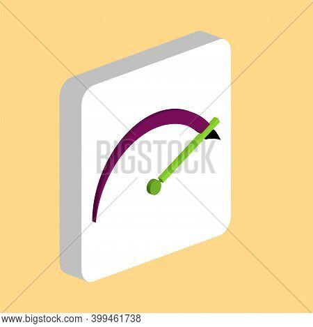 Tachometer Simple Vector Icon. Illustration Symbol Design Template For Web Mobile Ui Element. Perfec