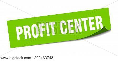 Profit Center Sticker. Profit Center Square Sign. Profit Center. Peeler