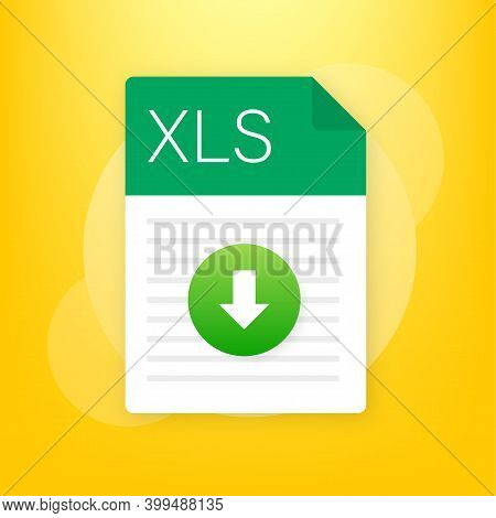 Xls File Icon. Spreadsheet Document Type. Modern Flat Design Graphic Illustration. Vector Xls Icon.