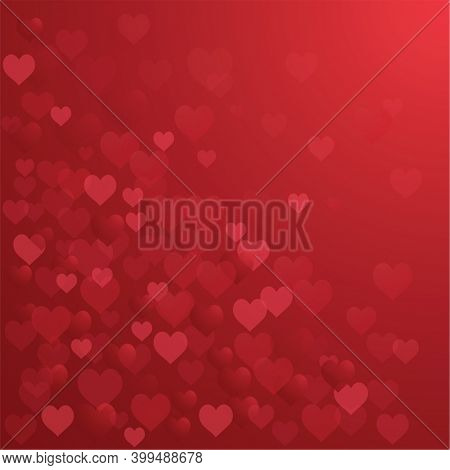 Digitally generated illustration of multiple pink hearts on red background. valentine day heart love illustration concept