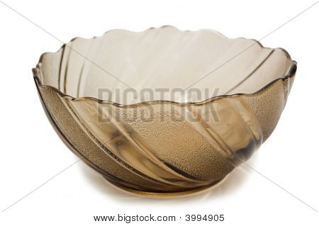 Empty Transparent Brown Bowl