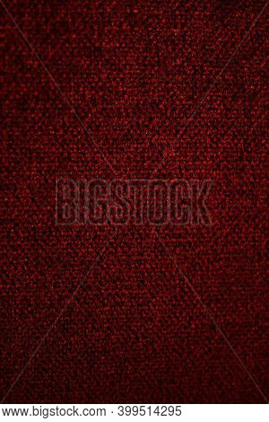 Beautiful Classic Red Velvet Luxurious Sofa. Burgundy Velvet Texture.