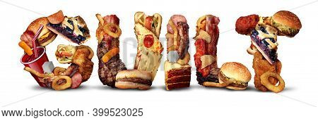 Food Guilt And Eating Fatty High Cholesterol Ingredients And Sweets As A Diet Symbol For Emotions Of