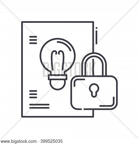 Intellectual Property Concept Icon, Linear Isolated Illustration, Thin Line Vector, Web Design Sign,