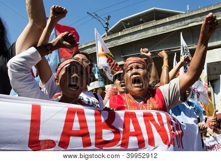 Militant group protest in the Philippines