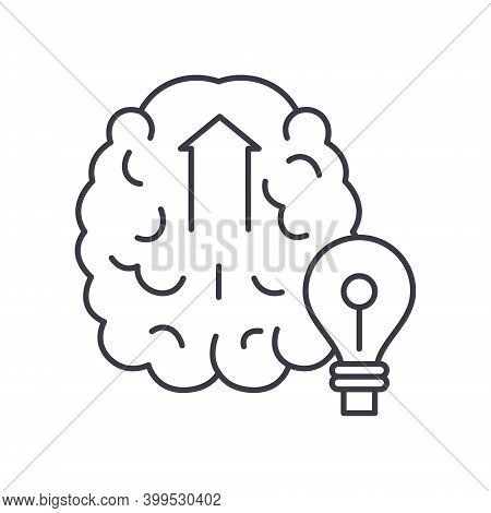 Initiative Mind Icon, Linear Isolated Illustration, Thin Line Vector, Web Design Sign, Outline Conce