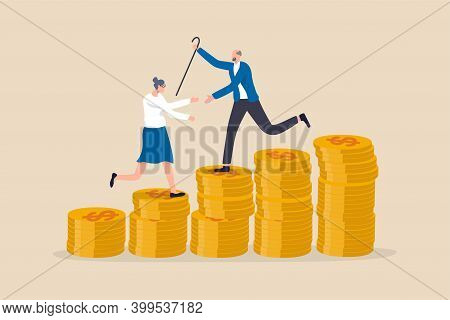 Retirement Saving Or Investment Pension Fund, Planning For Wealth And Expense For Living After Retir