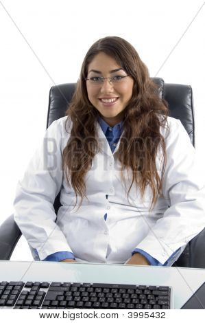 Smiling Female Young Doctor