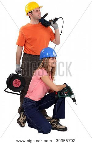 Young couple about to start renovating
