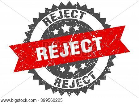 Reject Grunge Stamp With Red Band. Reject