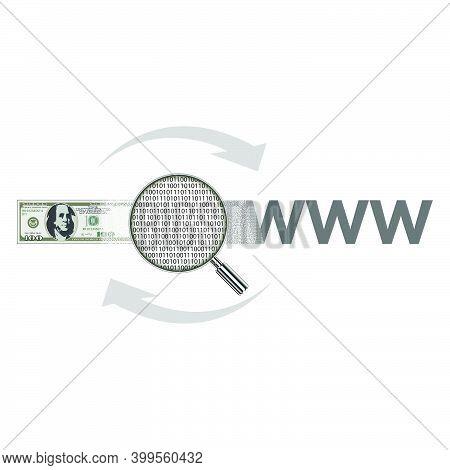 Logo For The Company. Website Development. Investing Money In Website Development.