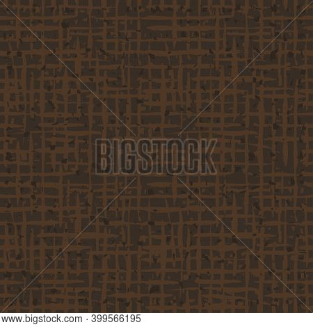 Burlap Texture.  Brown Fabric. Canvas Seamless Background Pattern. Cloth Linen Sack Backdrop. Vintag