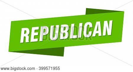 Republican Banner Template. Republican Ribbon Label Sign