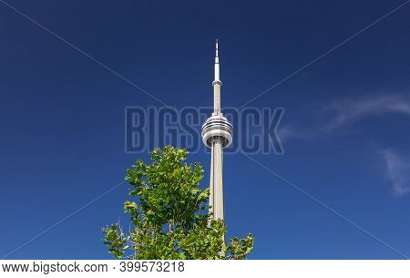 Toronto, Ontario,canada, Oct.11,2019, Water Front Down Town Area, Great Majestic Inviting View Of A