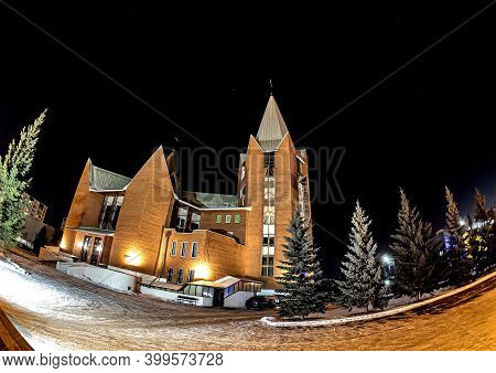 Church Of The Immaculate Conception Of The Blessed Virgin Mary-catholic Church In Chelyabinsk, Night