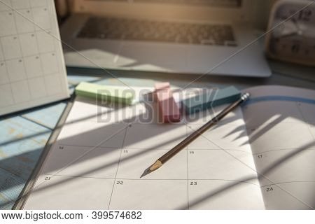 Calendar For Planner And Organizer To Plan And Reminder Daily Appointment, Meeting Agenda, Schedule,
