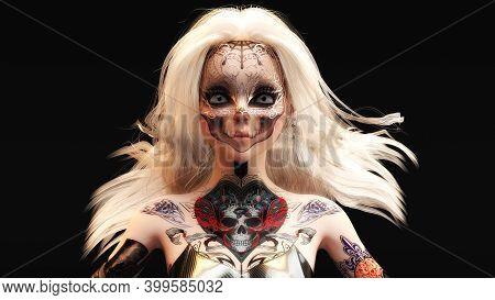 3d Illustration Of A Female Fantasy Face