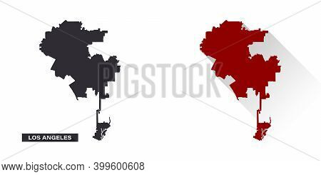 Map Of Los Angeles. United States Of America. State Maps. Trendy Design. Vector Illustration