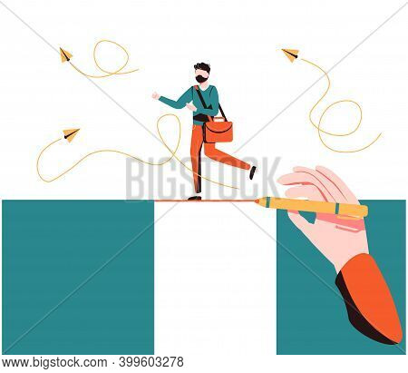 Business Support And Assistance To Overcome Problems Tiny Persons Concept. Partnership Hand Help To