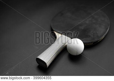 Table Tennis Racket And Ball.table Tennis Racket And Ball