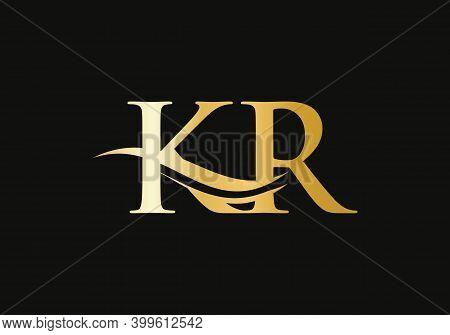 Premium Kr Letter Logo Design. K R Logo For Luxury Branding. Elegant And Stylish Design For Your Com