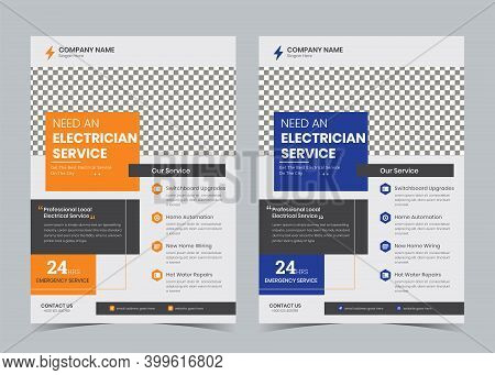 Electrician Flyer, Electrical Promotion Ad, Wiring, Contractor, Home Electrician