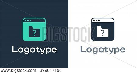 Logotype File Missing Icon Isolated On White Background. Logo Design Template Element. Vector