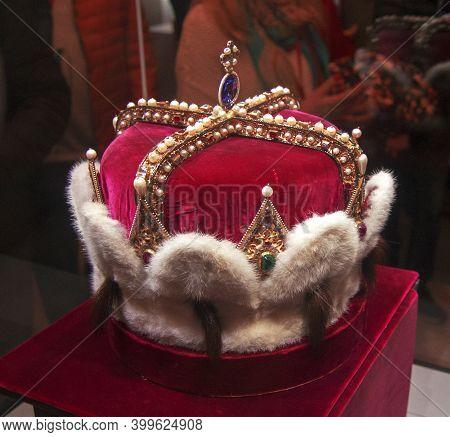 Sacred Crown Of Austria Inside The Klosterneuburg Monastery Of Roman Catholic Church Near Vienna Aus