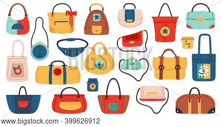Womens Handbags. Fashionable Ladies Accessories, Shopper, Tote, Belt Bag And Clutch. Fashion Leather
