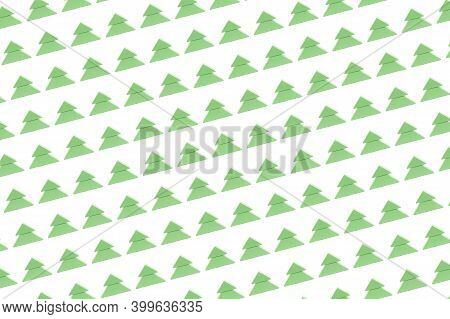 Pattern With An Abstract Green Christmas Tree. Wooden Christmas Tree. Abstract Background. Childrens