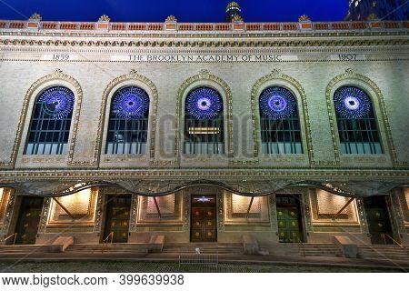 Brooklyn, New York - Sep 6, 2020: Brooklyn Academy Of Music: The Brooklyn Academy Of Music (bam) Is