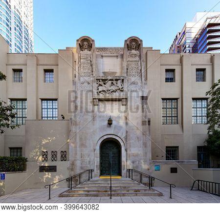 Los Angeles, California - Aug 26, 2020: Los Angeles Central Public Library In Los Angeles, Californi