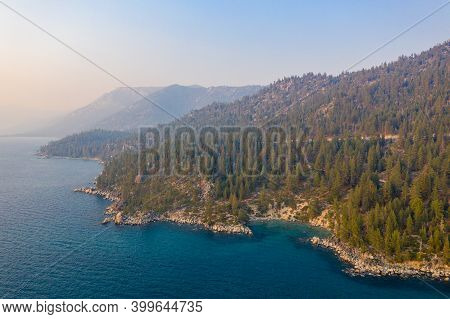 Secret Cove Along Lake Tahoe In Nevada. Secret Cove Is One Of A Series Of Beaches Located Along High