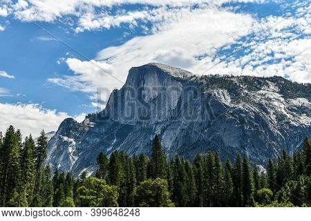 Yosemite Valley At Yosemite National Park. Yosemite Valley Is A Glacial Valley In Yosemite National