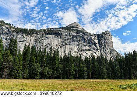 Yosemite Valley At Yosemite National Park. Yosemite Valley Is A Glacial Valley In Yosemite National