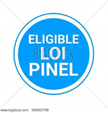 Eligible Pinel Law Symbol Called Eligible Loi Pinel In French Language