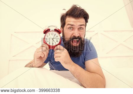 Time Zone. Insomnia Drives Me Crazy. Wakes Up In Morning. Time And Aging Concept. Stressed Man Shout