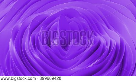 Abstract Background With Purple Noise Wave Field. Abstract Landscape Mountain Surface. Detailed Disp