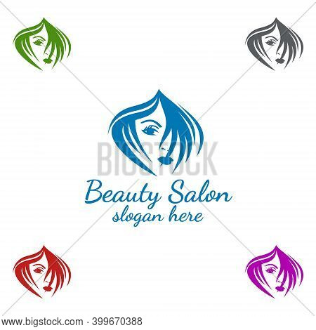 Salon Fashion Logo For Beauty Hairstylist, Cosmetics, Or Boutique