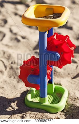 Toy Paddle Wheel In The Sandbox At Roback