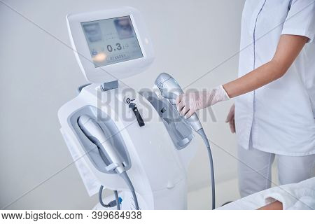 Image Of High Intensity Focused Ultrasound In Modern Beauty Center
