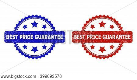 Rosette Best Price Guarantee Seal Stamps. Flat Vector Grunge Seal Stamps With Best Price Guarantee P