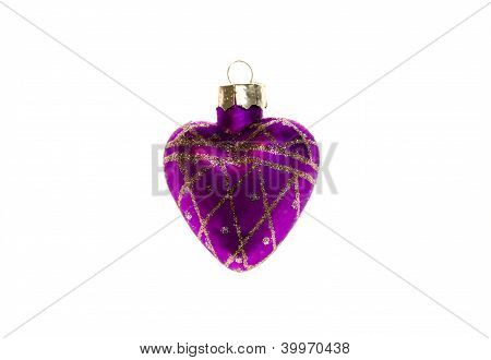 Christmas Toy Violet Heart.