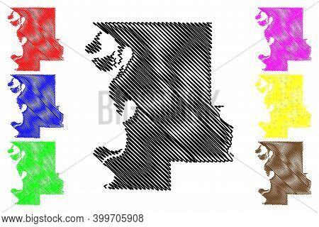 Washington County, Mississippi (u.s. County, United States Of America, Usa, U.s., Us) Map Vector Ill