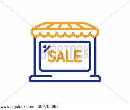 Market Sale Line Icon. Wholesale Store Sign. Marketplace Discounts Symbol. Quality Design Element. L