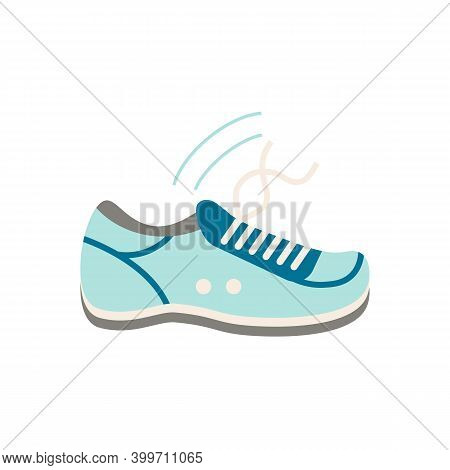 Smart Sneakers Flat Icon. Color Simple Element From Wearable Devices Collection. Creative Smart Snea