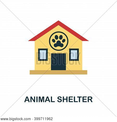 Animal Shelter Flat Icon. Color Simple Element From Volunteering Collection. Creative Animal Shelter