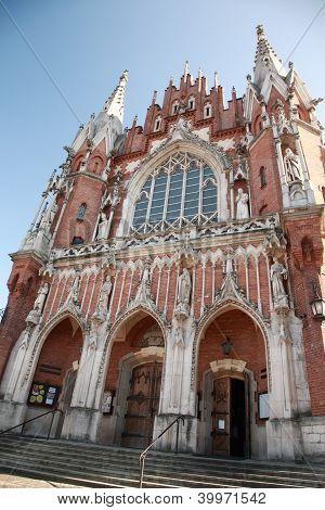Ornate Entrance Of St Joseph's Church, Krakow