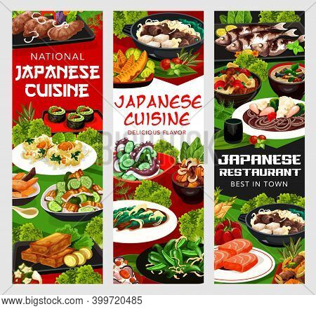 Japanese Cuisine Vector Roasted Green Pepper, Shrimp And Cryptotein In Batter. Chicken Wings With Bu